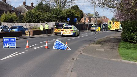 Pedestrian dies after collision involving car in Wistaria Road, Wisbech. Picture: Supplied