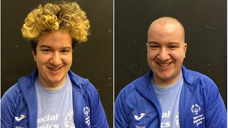 Shane Baxter, a Special Olympics gymnast from Norwich, braved the shave to raise money to help athle