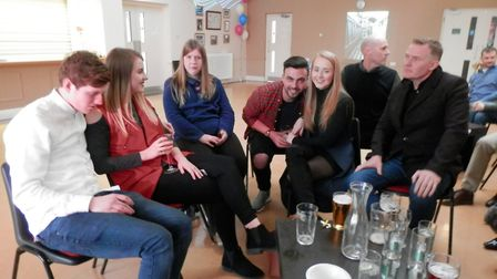 Members of the community enjoying Metfield Village Hall's grand re-opening. picture: BRENDA RAY