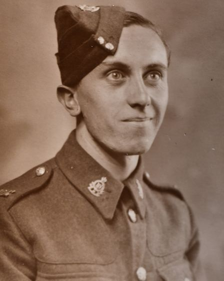 Pictures of Ernest Storry who was war time friends with Spike Milligan and Hary Secombe.PHOTO: supp