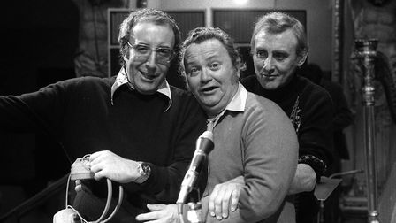 Peter Sellers, Harry Secombe and Spike Milligan of the Goons. Harry and Spike met Mr Storry in the w