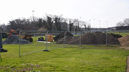Construction work starting on the Medical Centre at Cabbell Park. Picture: DENISE BRADLEY