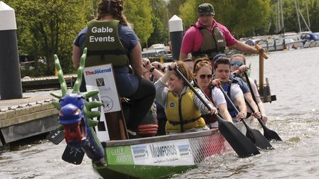 Dragon boat racing at a previous East Anglian Dragon Boat Festival. Picture: Courtesy of Martin Wrat