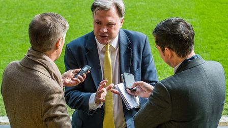 Norwich City chairman Ed Balls admits mistakes have been made at Carrow Road. Picture: Matthew Ushe