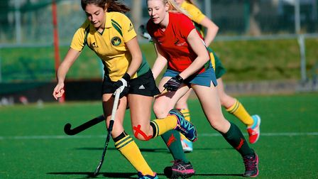 Action from the Empresa Norfolk Ladies' league match between Norwich City IV and Norwich Dragons II
