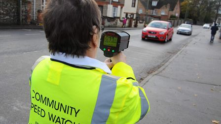 A Community Speed Watch team in Thetford. Picture: SONYA DUNCAN