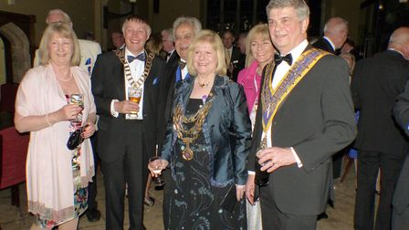 From the Left: Deidre Rothwell (wife of Rotary District 1080 Governor Derek Rothwell); district gov
