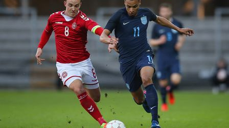 Norwich City's Jacob Murphy marked his second appearance for England Under-21s win an assist, pictur