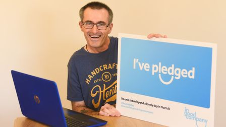 Steve Moss has been helping residents at a care home in Watton to use Skype. Picture: Ian Burt