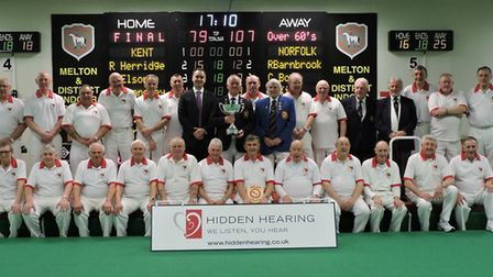 The triumphant Norfolk team after winning the national men's over 60 inter county title. Picture: Da