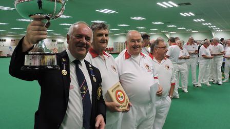 Norfolk Indoor Bowls president David Aldous, from the Diss & District Club, with the coveted men's o
