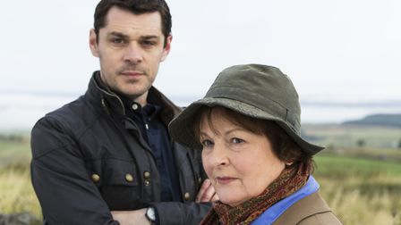 Brenda Blethyn as DCI Vera Stanhope and Kenny Doughty as DS Aiden Healy in Vera. Picture: ITV