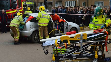Emergency services at the Impact event at Wymondham College. Picture: Courtesty of Wymondham College