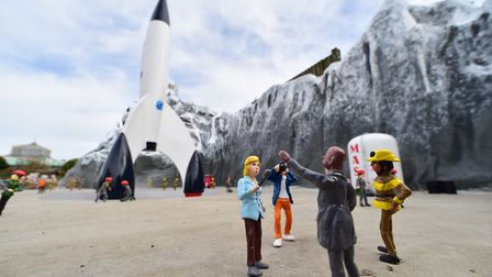 A new space rocket display has landed at Merrivale model village, Yarmouth. Picture: Nick Butcher