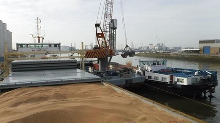 Gleadell loaded MV Lady Astrid with 3000 tonnes of wheat at Great Yarmouth grain terminal. Picture: