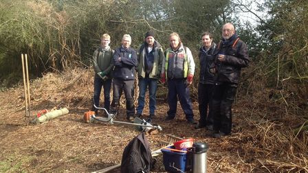 The Conservation Volunteers from Norwich carried out the work to the areas. Picture: Julia Dovey