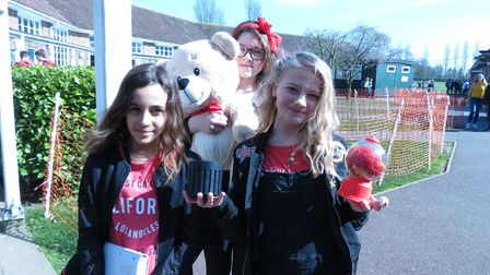 'Guess the name of the teddy bear' for Red Nose Day.Picture: Andrea Hassan