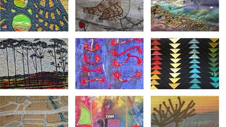 The group Artful Stitchers is presenting the exhibition Roots and Routes at Anteros Arts Foundation