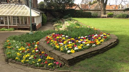 Flowers in bloom at King's House gardens in Thetford. Picture: Rebecca Murphy