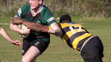 Will Hodgson in action for North Walsham at Letchworth. Picture: Hywel Jones