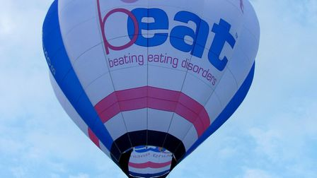 The hot air balloon set to fly above Norwich Cathedral. Picture: b-eat