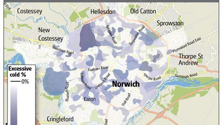 This graphic shows which parts of the city have the highest concentration of homes deemed to be exce