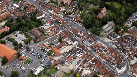 Aerial photo showing the main car park and one in the town centre. Picture: APS (UK)