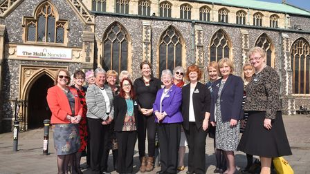 The Women's Institute AGM at St Andrews Hall in Norwich where one of the guest speakers is Felicity