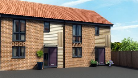 An artist's impression of how the homes at Maple Park, in Long Stratton, will look. Picture: SOUTH N
