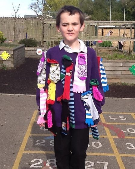 Mile Cross Primary School enjoyed supporting 'Silly Sock Day' for Autism Anglia. Picture: MILE CROSS