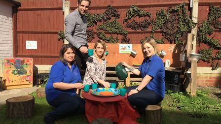 Staff at Traquinas Childcare are celebrating the opening of a new nursery. Left to right: Croxton Ro