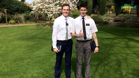 Drew Hathaway and Michael Smith are Mormon missionaries who are helping to spread the word of the Ch