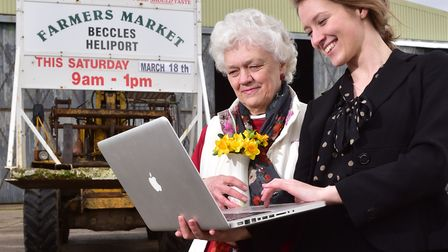 Chloe Donovan and her grandmother Margaret Hall who help run Beccles Farmers market are set to start