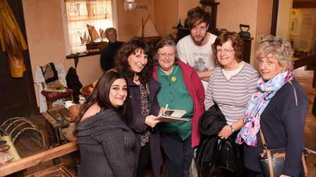 A dementia-friendly group at Cromer Museum. From left, Laura Lodge, head of dementia lodge at Halsey