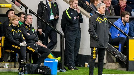 Alan Irvine looks for a third unbeaten game in temporary charge of Norwich City. Picture: Matthew U