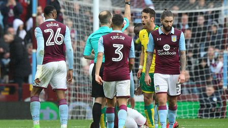 Ivo Pinto picked up two yellow cards at Aston Villa. Picture: Paul Chesterton/Focus Images Ltd