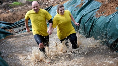 Only the Brave obstacle run at Elveden Estate.Picture: ANTONY KELLY