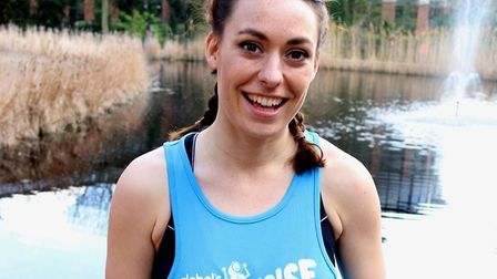 Capital FM radio presenter Claire Chambers, 25, and former Norfolk student who is running three mar