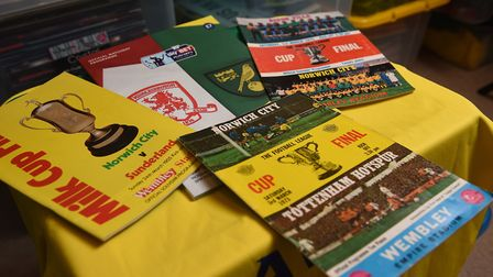 NCFC fan David Thornhill's match programmes and memorabilia. A selection of programmes from Norwich