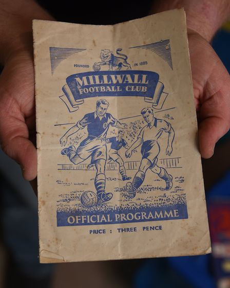 NCFC fan David Thornhill's match programmes and memorabilia. Millwall v Norwich City programme from