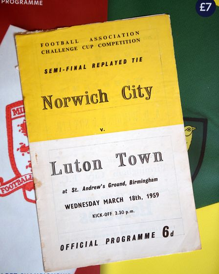 NCFC fan David Thornhill's match programmes and memorabilia. Norwich City v Luton Town programme fro