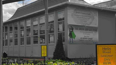 The outside of the Green Lady Eco Store at the Moulton St Mary Garden Centre. Photo: Michele Watts
