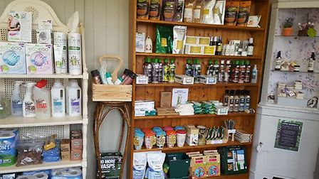 The inside of the Green Lady Eco Store at the Moulton St Mary Garden Centre. Photo: Michele Watts
