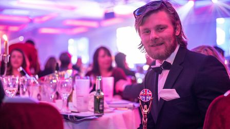 Owen Pick at the 2017 Soldiering On Awards. Picture: RUPERT FRERE