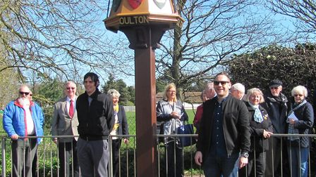 Stuart Lawn and James Weston after the unveiling