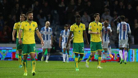 Norwich City collapsed at Huddersfield in a 3-0 Championship defeat. Picture: Paul Chesterton/Focus