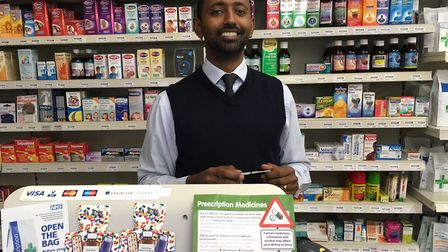 The Willows Pharmacy in Aylsham has been disconnected. Pharmacist Teclino Afewerki: Pictures: David