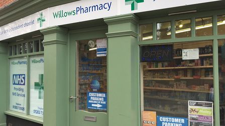 The Willows Pharmacy in Aylsham has been disconnected. Pictures: David Bale