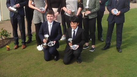 Prize winners at the Norfolik Schools' Championships at Eaton face the camera. Picture Norfolk SGA.