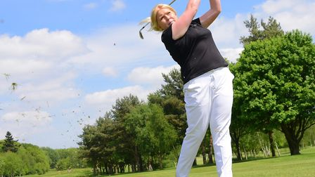Amber Ratcliffe returned to tournament golf in the south of France. Picture by SIMON FINLAY